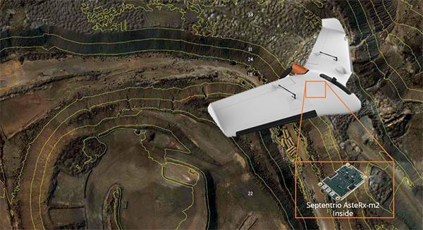 The Delair Septentrio UX11 mapping UAV. (Image: Septentrio)